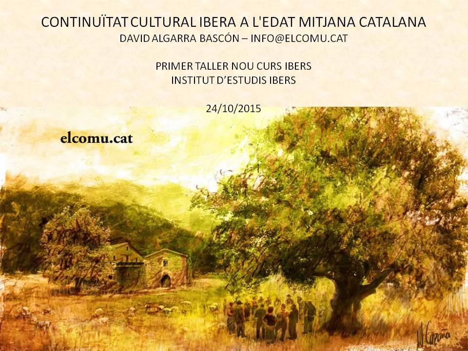 Continuïtat cultural ibera a Edat Mitjana catalana